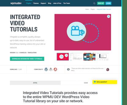 WPMU DEV: Integrated Video Tutorials WordPress Plugin