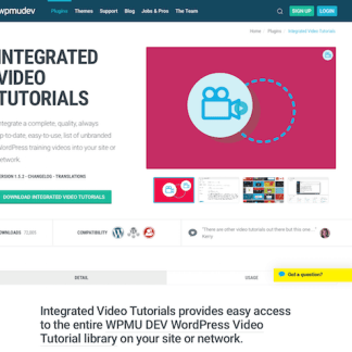 WPMU DEV: Integrated Video Tutorials WordPress Plugin
