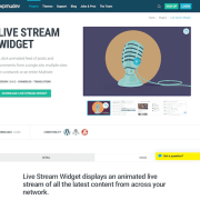WPMU DEV: Live Stream Widget WordPress Plugin