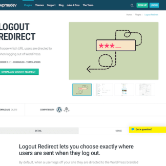 WPMU DEV: Logout Redirect WordPress Plugin