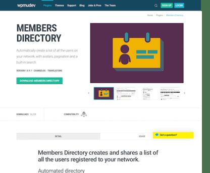 WPMU DEV: Members Directory WordPress Plugin