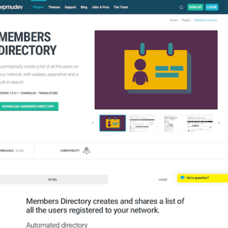 WPMU DEV: Members Directory WordPress Plugin