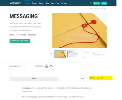 WPMU DEV: Messaging WordPress Plugin