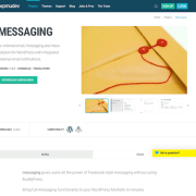 WPMU DEV: Messaging WordPress Plugin