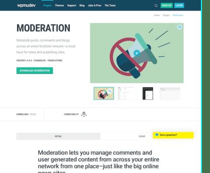 WPMU DEV: Moderation WordPress Plugin