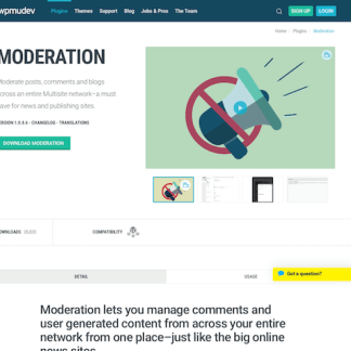 WPMU DEV: Moderation WordPress Plugin