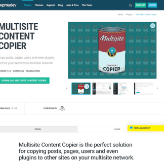WPMU DEV: Multisite Content Copier WordPress Plugin