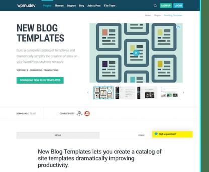 WPMU DEV: New Blog Templates WordPress Plugin