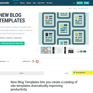 WPMU DEV: New Blog Templates WordPress Plugin