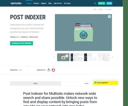 WPMU DEV: Post Indexer WordPress Plugin