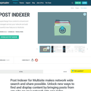 WPMU DEV: Post Indexer WordPress Plugin