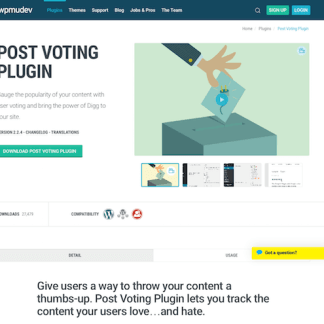 WPMU DEV: Post Voting WordPress Plugin