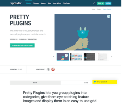 WPMU DEV: Pretty Plugins WordPress Plugin