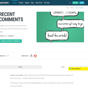 WPMU DEV: Recent Comments WordPress Plugin