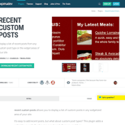 WPMU DEV: Recent Custom Posts WordPress Plugin