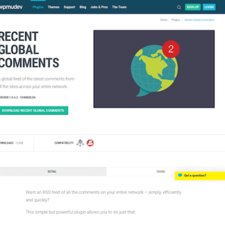 WPMU DEV: Recent Global Comments WordPress Plugin