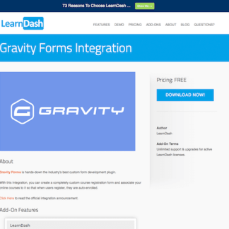 LearnDash LMS Add-On: Gravity Forms Integration