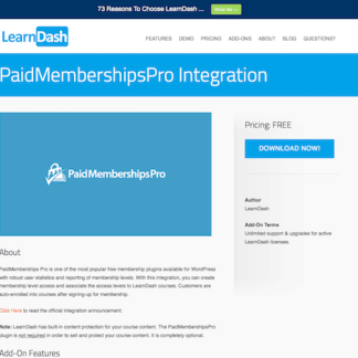 LearnDash LMS Add-On: PaidMembershipsPro Integration