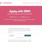 WP Job Manager Add-On: Apply with XING