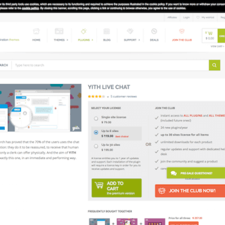 YITH WooCommerce: Live Chat