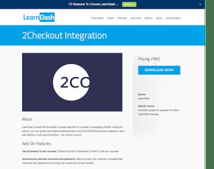 LearnDash LMS Add-On: 2Checkout Integration