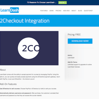 LearnDash LMS Add-On: 2Checkout Integration