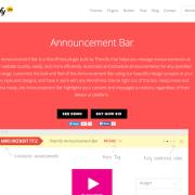 Themify Announcement Bar WordPress Plugin