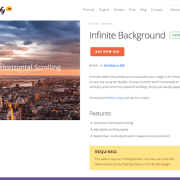Themify Builder Add-On: Infinite Background