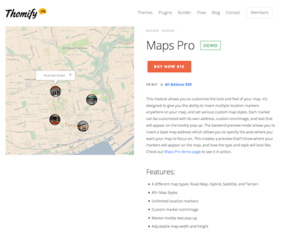 Themify Builder Add-On: Maps Pro
