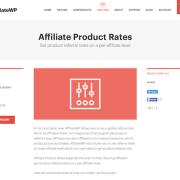 AffiliateWP: Affiliate Product Rates