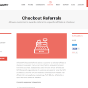 AffiliateWP: Checkout Referrals