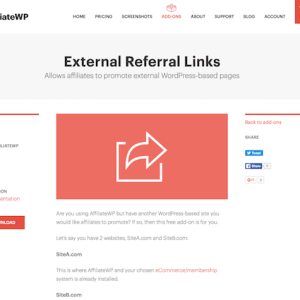 AffiliateWP: External Referral Links