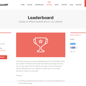 AffiliateWP: Leaderboard