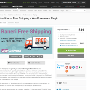 Codecanyon: Conditional Free Shipping for WooCommerce