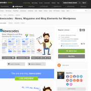 Codecanyon: Newscodes - News, Magazine and Blog Elements for WordPress