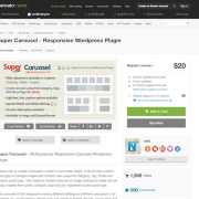 Codecanyon: Super Carousel - Responsive WordPress Plugin