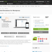 Codecanyon: Total Donations for WordPress