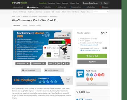 Codecanyon: WooCommerce Cart - WooCart Pro