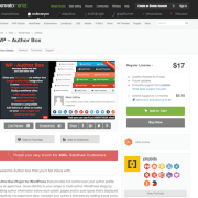Codecanyon: WP Author Box Pro