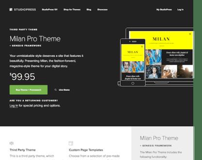 StudioPress: Milan Pro Theme