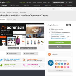 Themeforest: Adrenalin