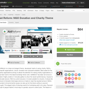 Themeforest: Aid Reform