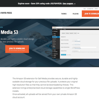 Graph Paper Press: Sell Media S3 Addon