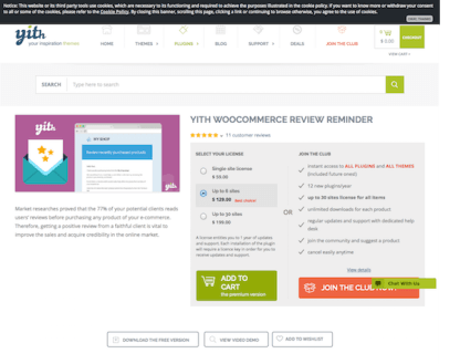 YITH WooCommerce: Review Reminder