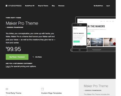 StudioPress: Maker Pro Theme