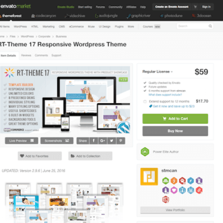 Themeforest: RT-Theme 17