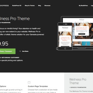 StudioPress: Wellness Pro Theme