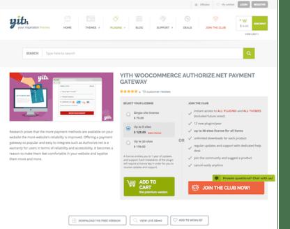 YITH WooCommerce: Authorize.net Payment Gateway Premium