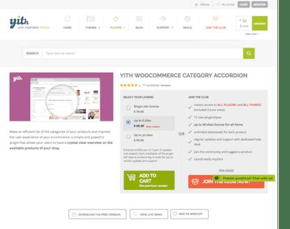 YITH WooCommerce: Category Accordion Premium