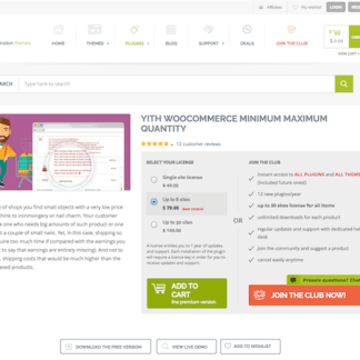 YITH WooCommerce: Minimum Maximum Quantity Premium